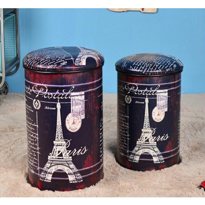 【新生活家具】《9 ball》巴黎鐵塔 小收納椅 收納凳 復古 工業風 loft 汽油桶 鐵桶 仿古 美式復古風
