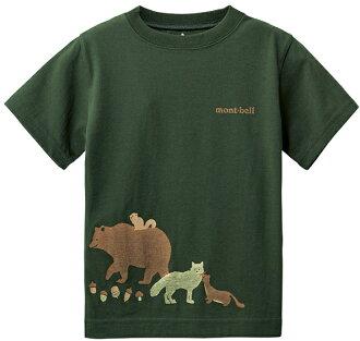Mont-Bell 兒童排汗短T 幼童排汗衣 Wickron 1114217 KHGN 山的朋友 卡其綠