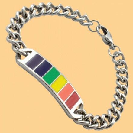 彩虹鈦鋼手鍊 316不銹鋼 簡約 情侶款 同性 LES 手鍊 手環 沂軒 F0006~4