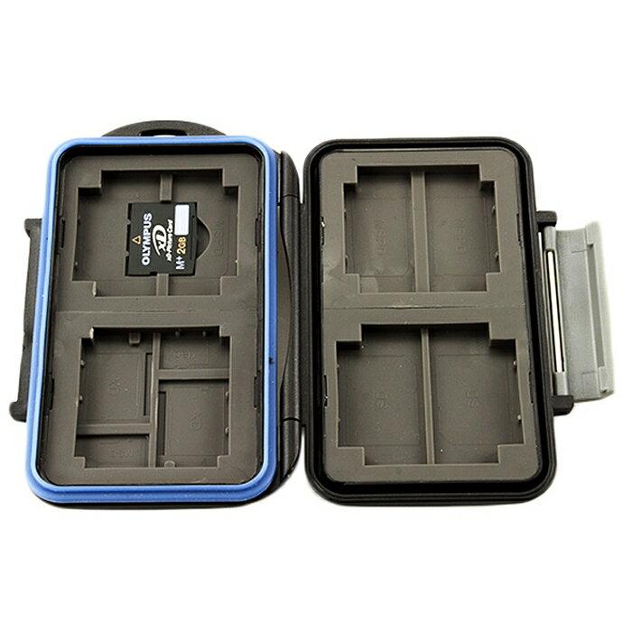 又敗家@JJC共20張卡即4張CF/8張Micro SD/8張XD記憶卡收納盒,防撞抗潑水CF記憶卡儲存盒CF記憶卡儲藏盒Micro SD卡卡盒SD卡盒SD收納盒