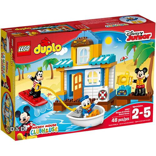 樂高積木LEGO《 LT10827 》Duplo 得寶幼兒系列 - 米奇與朋友的沙灘小屋