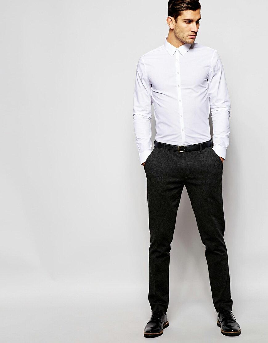 美國百分百【全新真品】Calvin Klein 襯衫 CK 上班族 長袖 白色 上衣 素面 專櫃款 外衣 S號 C615