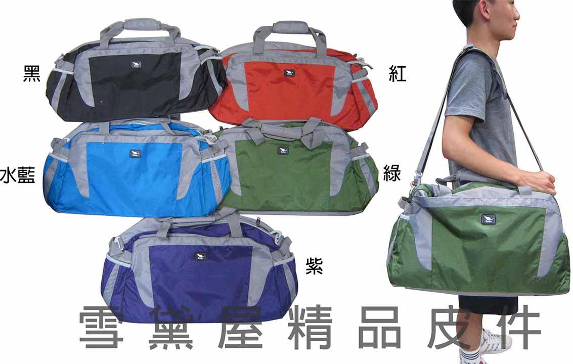 <br/><br/>  ~雪黛屋~Cougar 旅行袋可固定於拉桿超輕防水尼龍布材質外出休閒旅行手提肩背斜側背大容量CG-7035<br/><br/>