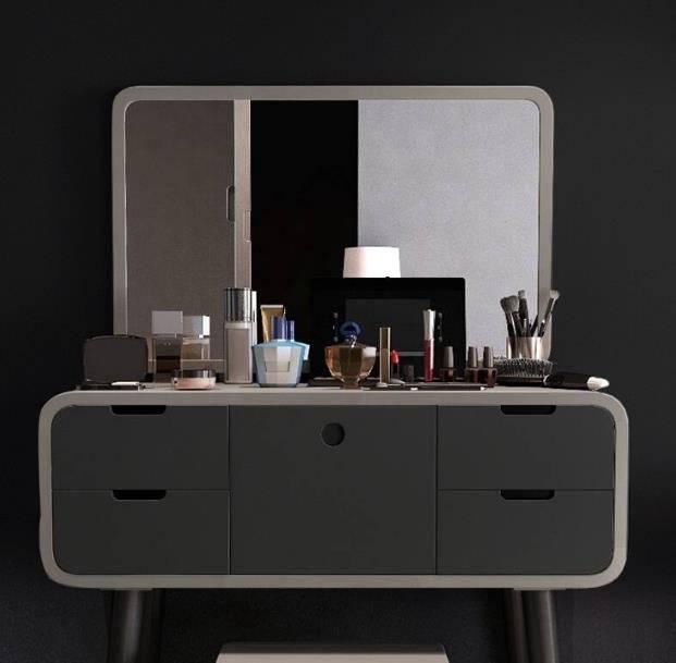 化妝櫃  北歐化妝臺網紅小戶型 迷你經濟型現代簡約臥室ins風化妝桌