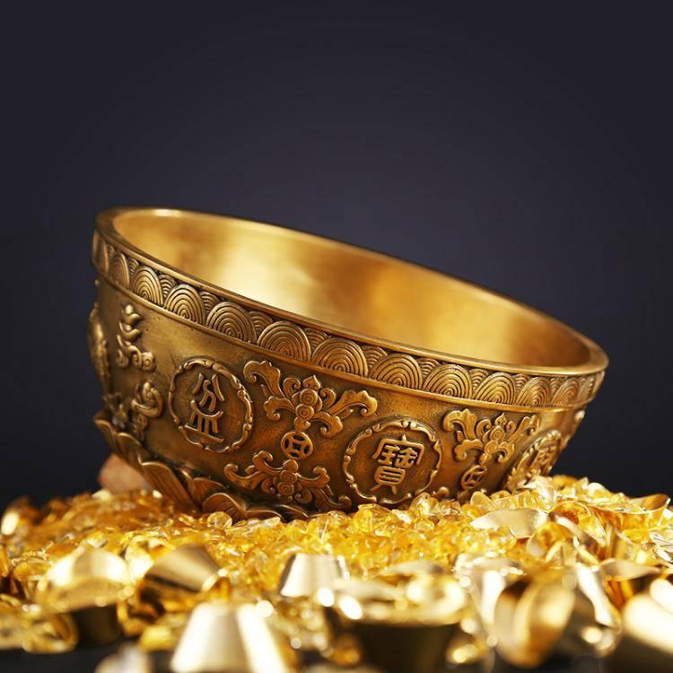 聚寶盆 純銅聚寶盆擺件 家居裝飾品客廳辦公室 禮品招財擺件