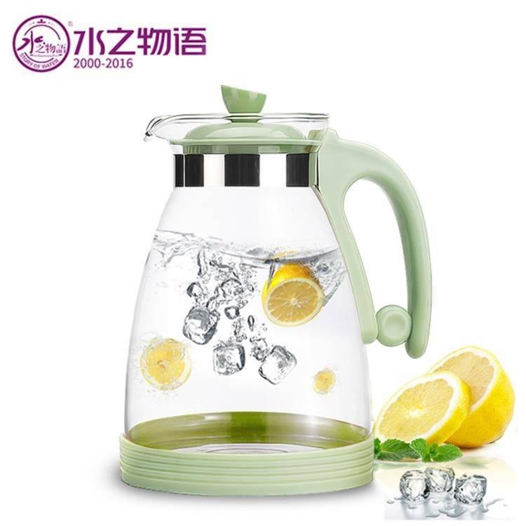耐高溫玻璃冷水壺 家用涼水壺耐熱開水壺茶壺套裝扎壺