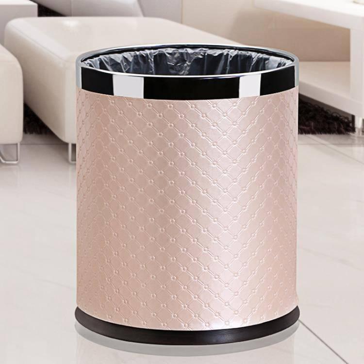 簡約垃圾桶歐式創意家用客廳臥室廚房廁所雙層可愛大號無蓋北歐