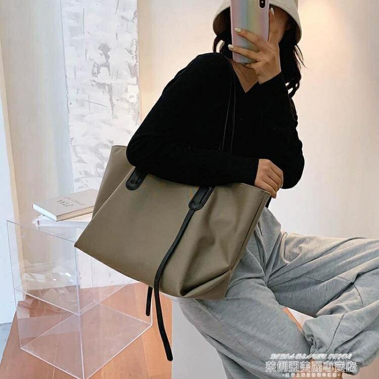 側背包 包包新款潮秋冬女大容量百搭帆布包時尚手提側背包大包托特包【89折特賣】