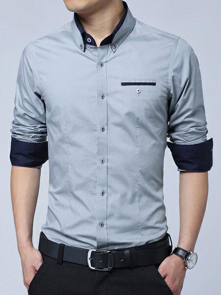 最新韓版 多層次高質感設計襯衫 (店長親自手工整燙直挺) mcps23