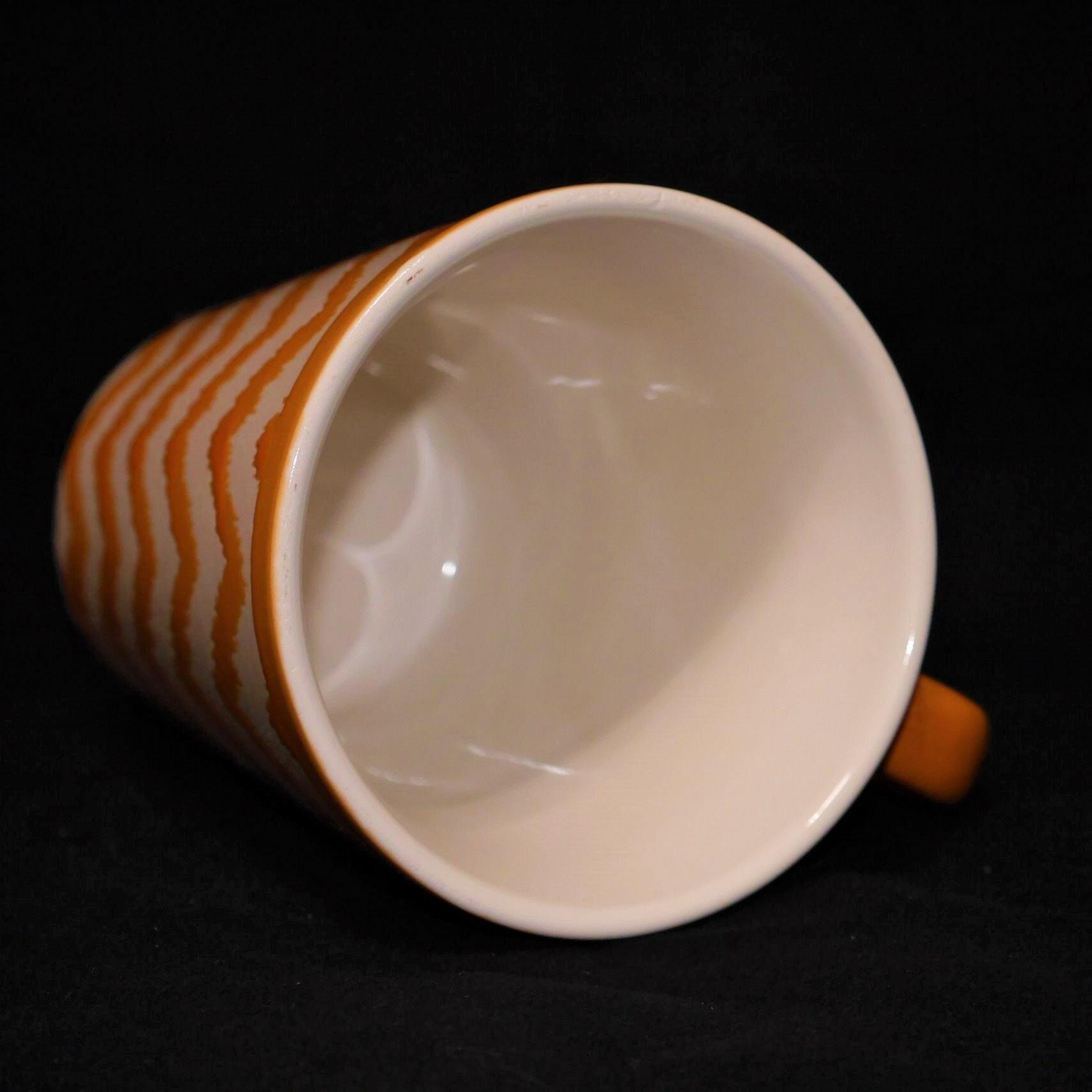 馬克杯橘色幾何紋500ml【曉風】 1