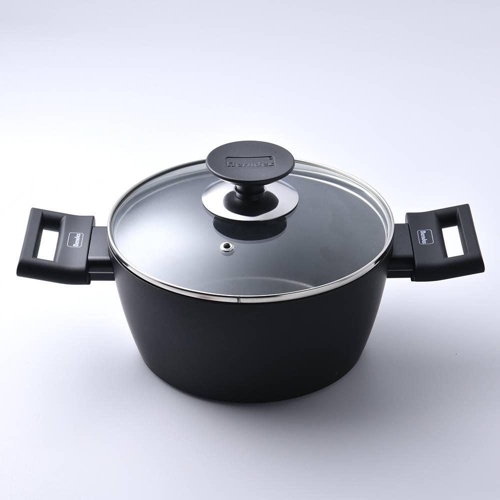 【德國Berndes 寶迪鍋】 Alu 特別版 雙耳湯鍋 含蓋 不沾鍋 深鍋 20cm 電磁爐可用 -618年中慶