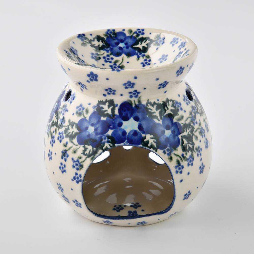 波蘭陶 青花涼夏系列 精油燈 (不包含蠟燭和精油) 香薰燈 蠟燭燈 香薰爐 波蘭手工製 -618年中慶