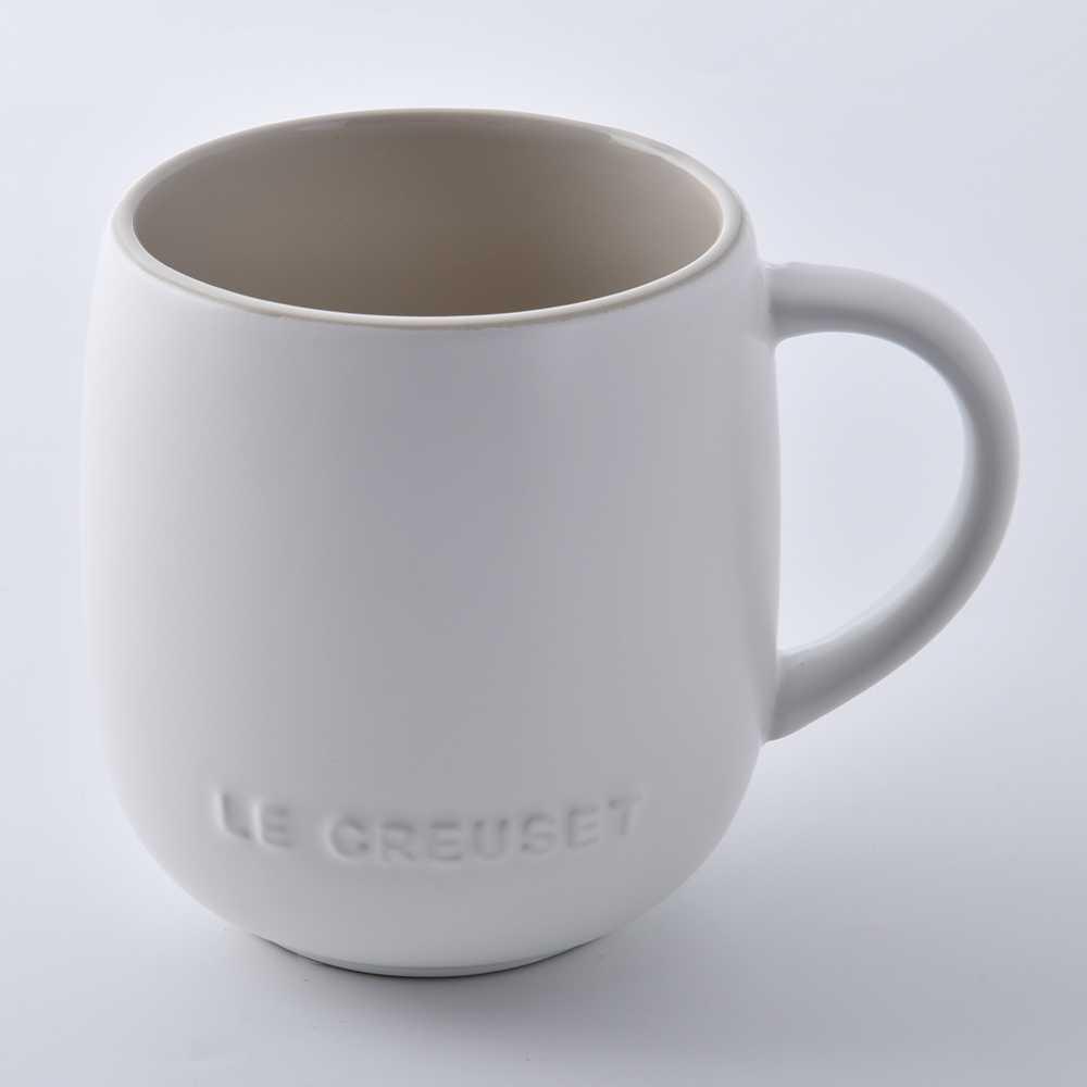 Le Creuset 蛋蛋馬克杯 茶杯 380ml 棉花白