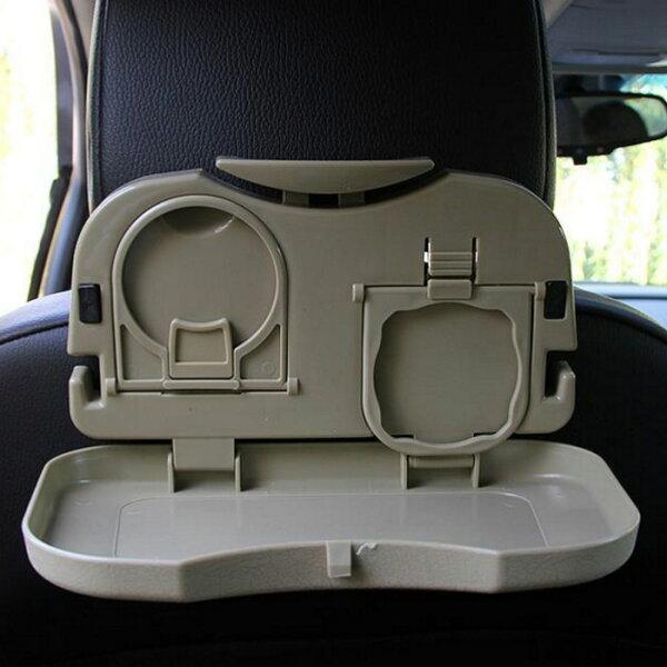 糖衣子輕鬆購【BA0122】多功能置物架汽車椅背收納價餐台車內杯架飲料架
