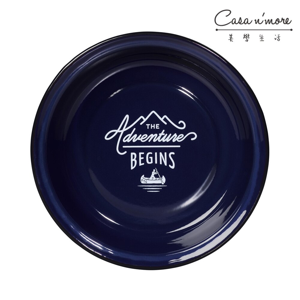 Wild & Wolf 紳士系列 琺瑯義大利麵盤 琺瑯盤 餐盤 英國藍 22cm