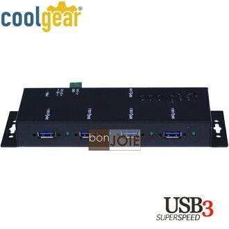 ::bonJOIE:: 美國進口 CoolGear 4 Port Industrial USB 3.0 Hub Metal Case 金屬外殼四孔集線器 (USBG-3X4M) 鐵殼 4-Port