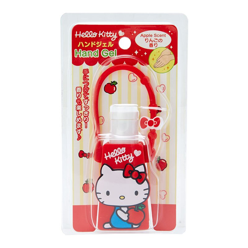 【真愛日本】18040300028 攜帶型乾洗手-KT蘋果ACG 三麗鷗 kitty 凱蒂貓 乾洗手 攜帶型