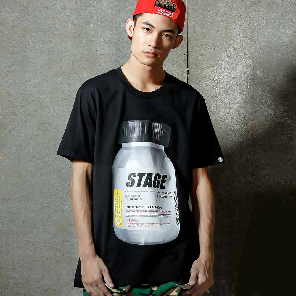 STAGE PILL BOTTLE TEE 黑色 0