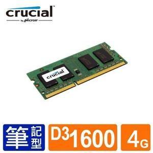 【DB購物】Micron美光 Crucial NB-DDRIII 1600/4G (512*8) RAM筆記型電腦用記憶體(請詢問貨源)(捷E9232)