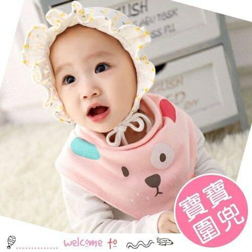 嬰兒小狗印花雙面可戴圍兜 三角巾口水巾