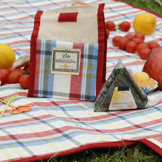 【DESTINO STYLE】256經典格紋簡易野餐保冷(溫)袋 3