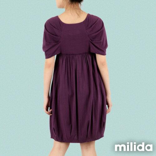 【Milida,全店七折免運】-春夏商品-甜美款-公主袖洋裝 8