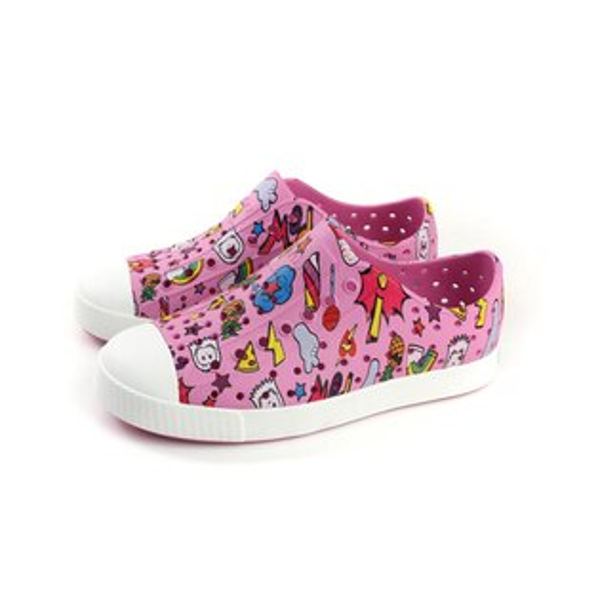 nativeJEFFERSONPRINT洞洞鞋防水雨天粉紅色中童12100101-8505no712