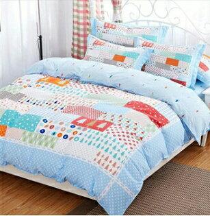 天鵝絲絨雙人加大床包兩用被四件套