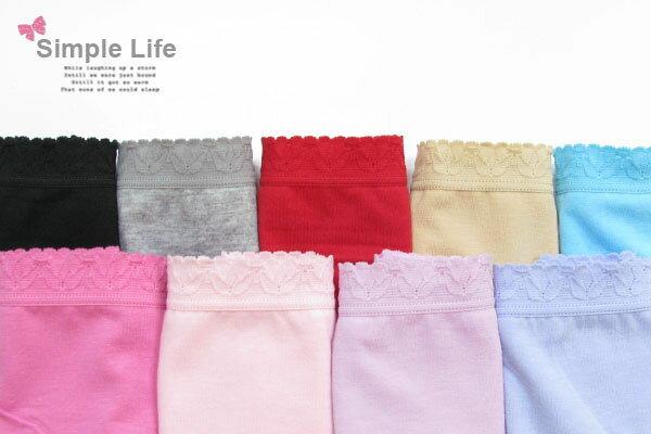 3件199免運【夢蒂兒】素色天然棉中低腰平口褲3件組(隨機色) 1