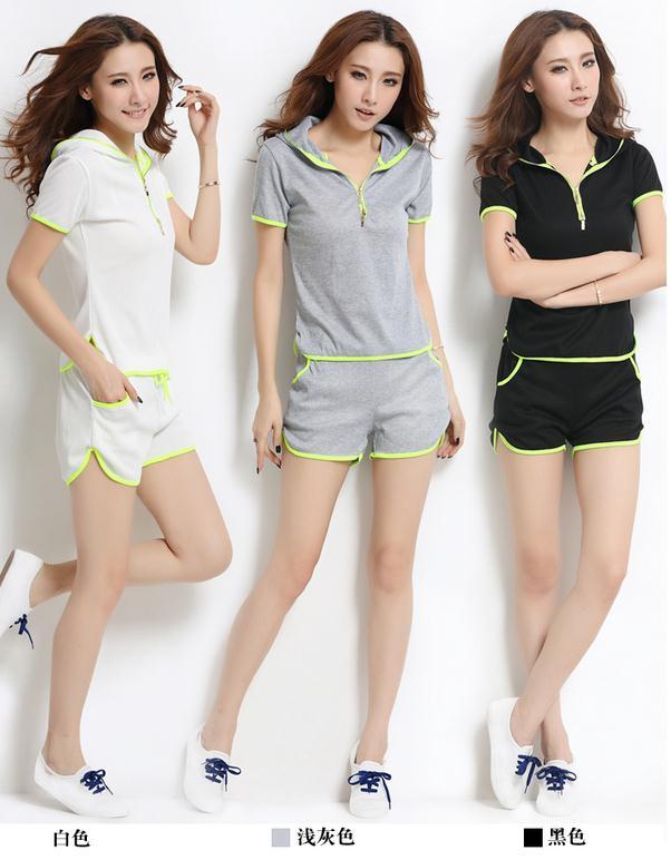 清爽夏日風春夏  休閒寬鬆 休閒服 兩件組 套裝    韓風衣舍