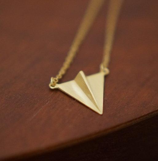 BIRDYEDGE 真正純銀 手工打造 紙飛機 純銀項鍊 非20% 是 100%