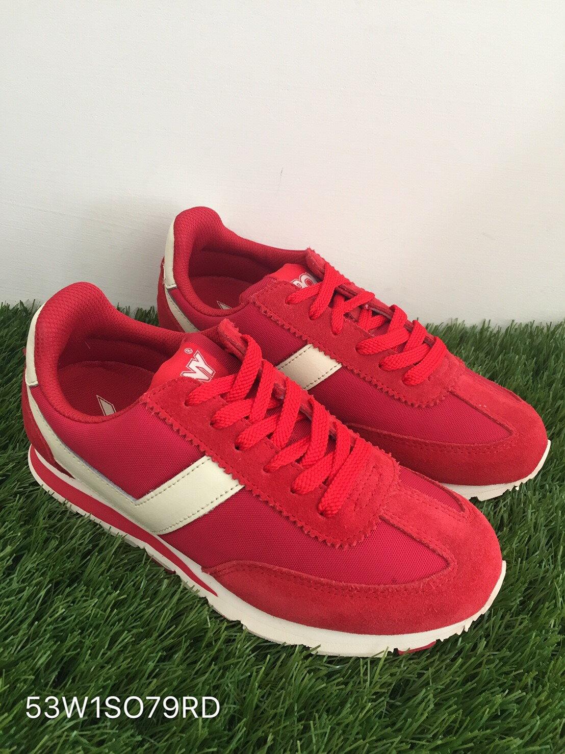 ★限時特價990元★ Shoestw【53W1SO79RD】PONY 復古慢跑鞋 內增高 紅白色 女生 0