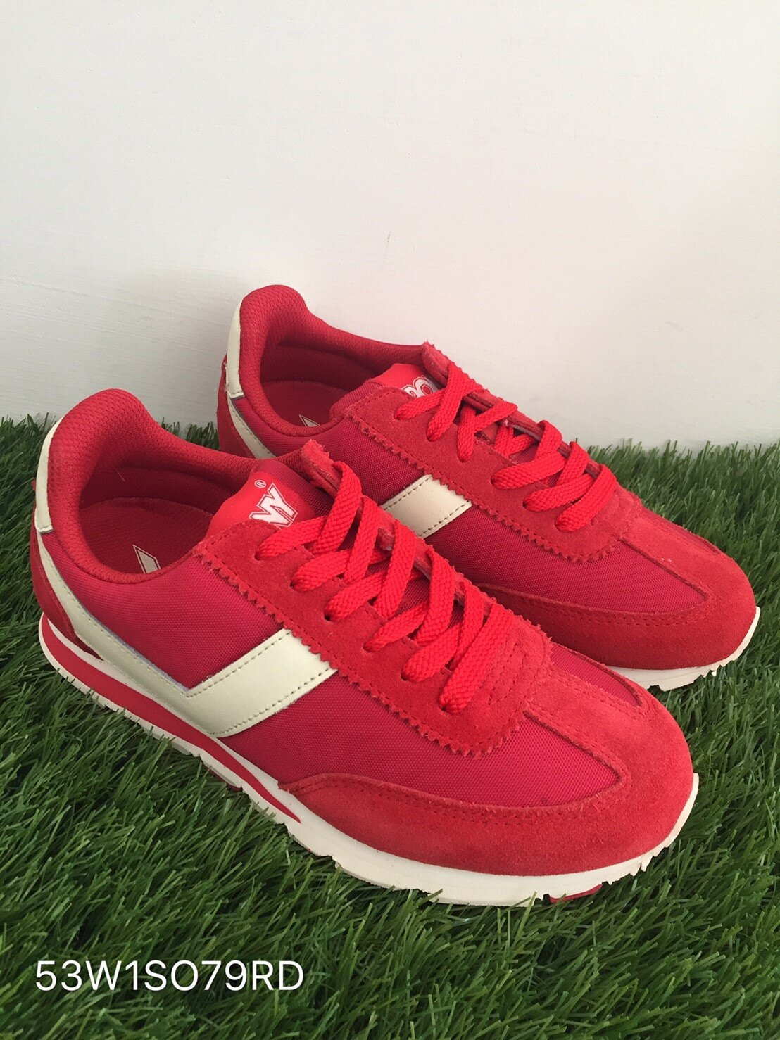 [25cm]★限時特價990元★ Shoestw【53W1SO79RD】PONY 復古慢跑鞋 內增高 紅白色 女生 0