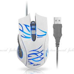 光學有線滑鼠S629閃靈魔鼠六鍵式高解析 USB有線光學滑鼠四段式CPI切換【DC294】◎123便利屋◎