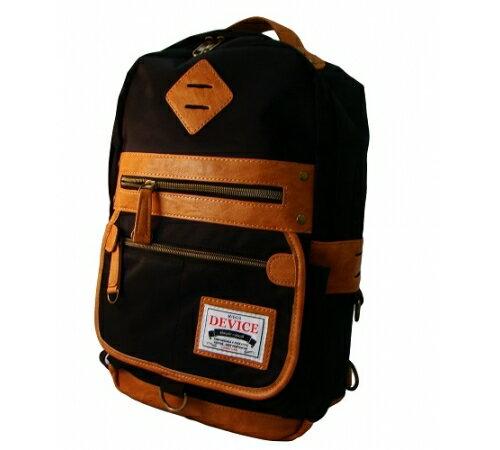 【預購】日本DEVICE潮牌單肩背包-個性黑 A4大容量