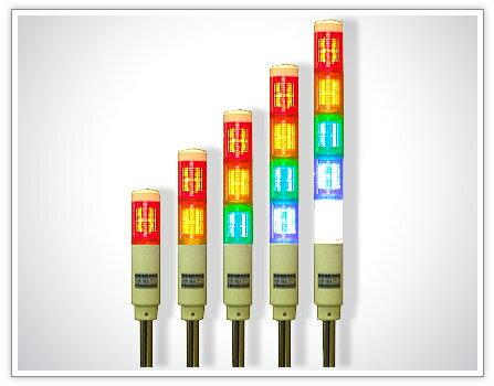 【免運費】山河電機  SCR-16L LED多層警示燈 二層 紅/黃 (閃光) - 限時優惠好康折扣