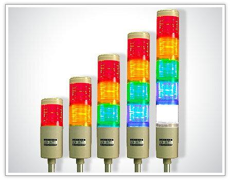 【免運費】山河電機  SCR-58L LED多層警示燈 二層 紅/黃 (閃光) - 限時優惠好康折扣