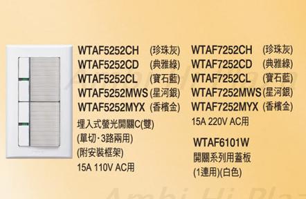 Panasonic 面板開關 WTAF-5352 三開110V 附蓋板-COSMO系列 - 限時優惠好康折扣