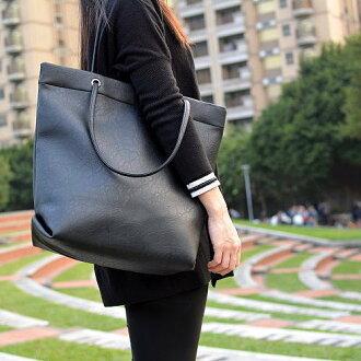 【T-HOMME x LINNATE】質感簡約時尚復古百搭軟皮革大容量休閒子母包手提包購物包肩背包