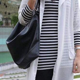 【T-HOMME x LINNATE】簡約時尚復古質感軟皮革大容量百搭氣質單肩休閒手提包肩背包購物包