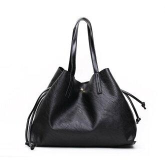 【T-HOMME x LINNATE】簡約時尚復古質感荔枝紋軟皮大容量子母包淑女手提包肩背包購物包
