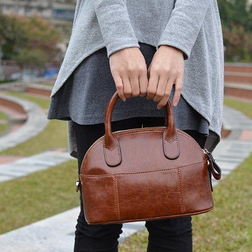 【T-HOMME x LINNATE】手工訂製真皮小牛皮復古懷舊質感森林系休閒手提包小包淑女斜側背包