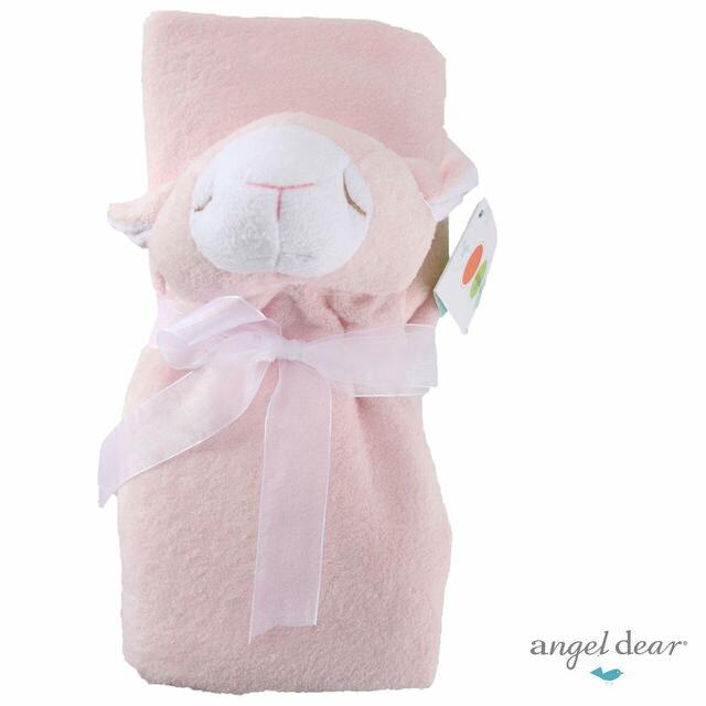 美國Angel Dear 大頭動物嬰兒毛毯 粉羊AD2002(此商品售出不做退換)『121婦嬰用品館』 2