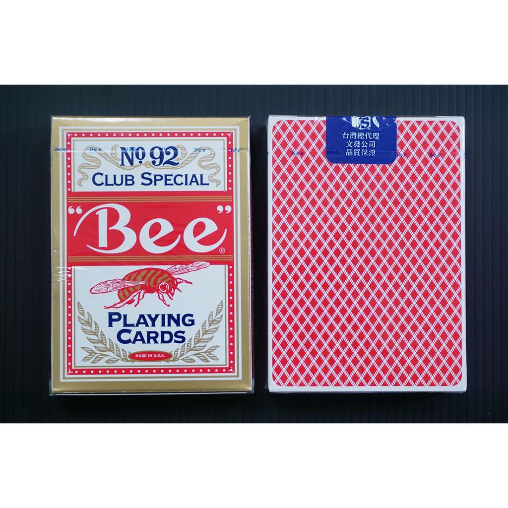 ✨【BEE】美國原廠直送 ✨專業撲克牌 No.92 Club Special(紅) 橋牌協會指定牌 專業賭場專用牌