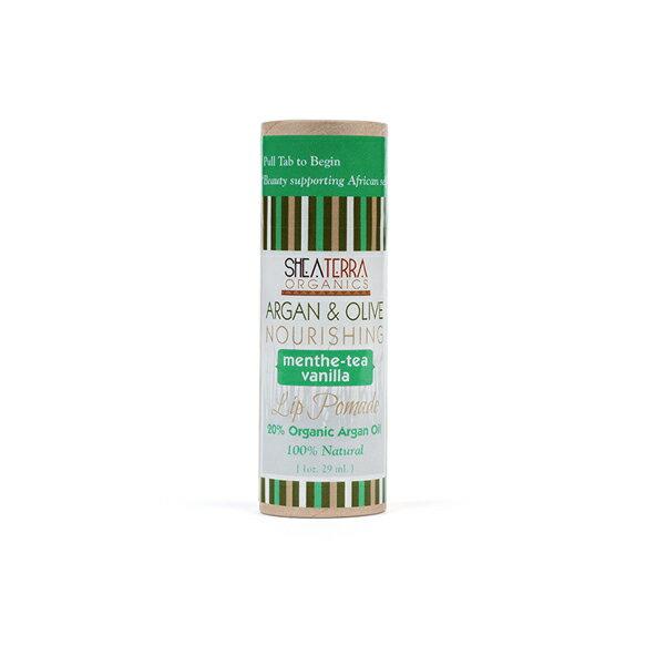 【SHEA TERRA】 摩洛哥堅果油&橄欖潤唇膏(薄荷香草)