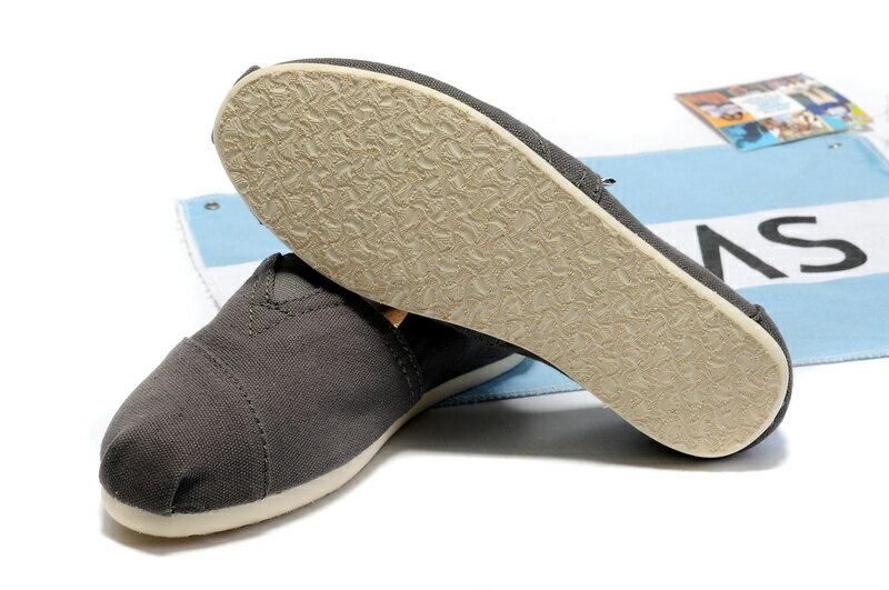 【TOMS】灰色素面基本款休閒鞋   Ash Canvas Women's Classics 5