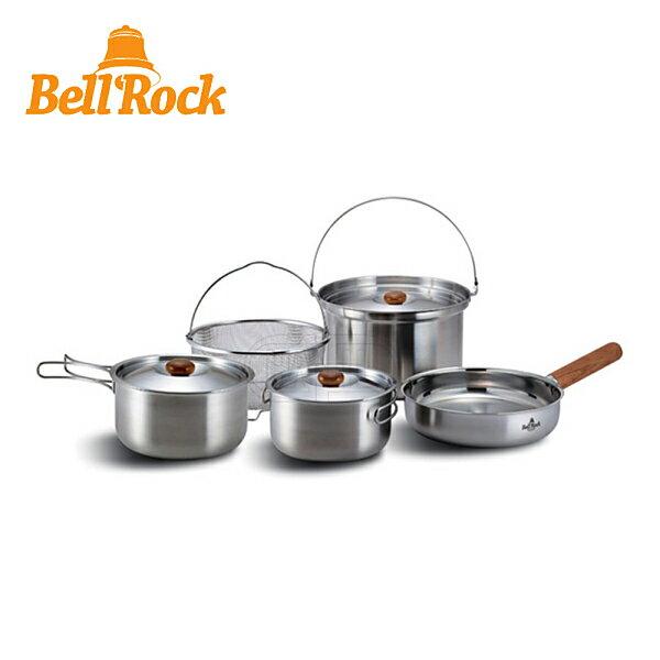 BELLROCK複合金不鏽鋼戶外炊具9件組COMBI9BR-019SS套組