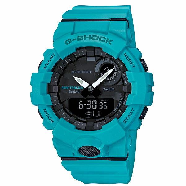 CASIO卡西歐G-SHOCKGBA-800-2A2G-SQUAD系列藍芽計步運動腕錶