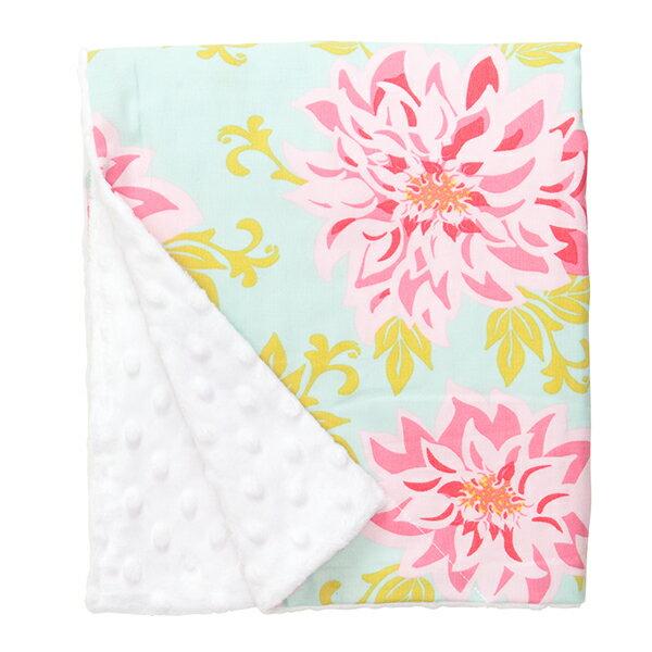 YODEE 優迪嚴選:BabyElephantEars嬰幼兒親膚毛毯-粉綠花朵