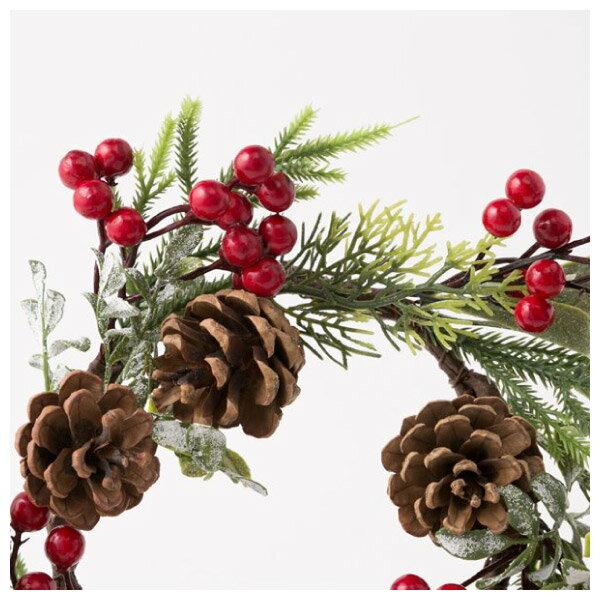 聖誕裝飾花圈 25cm RED RH02-17911 NITORI宜得利家居 2